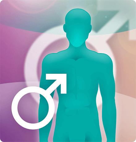 Button Körperregionen Männer