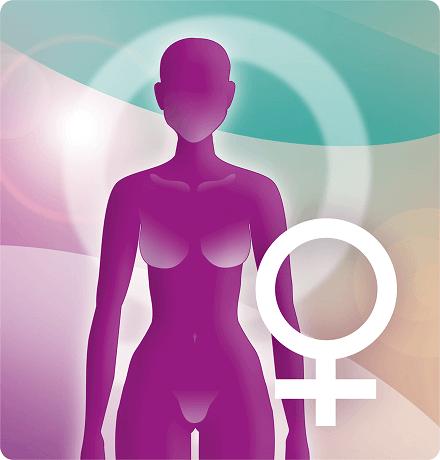 Button Körperregionen Frauen