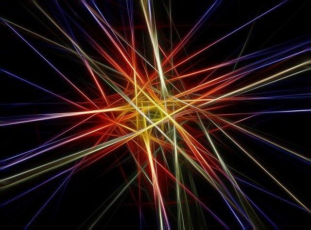 Bild eines Laserstrahls