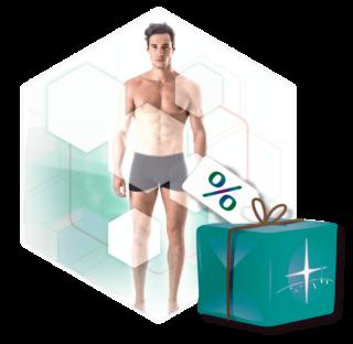 Körperregionen Mann Paket-Illustration